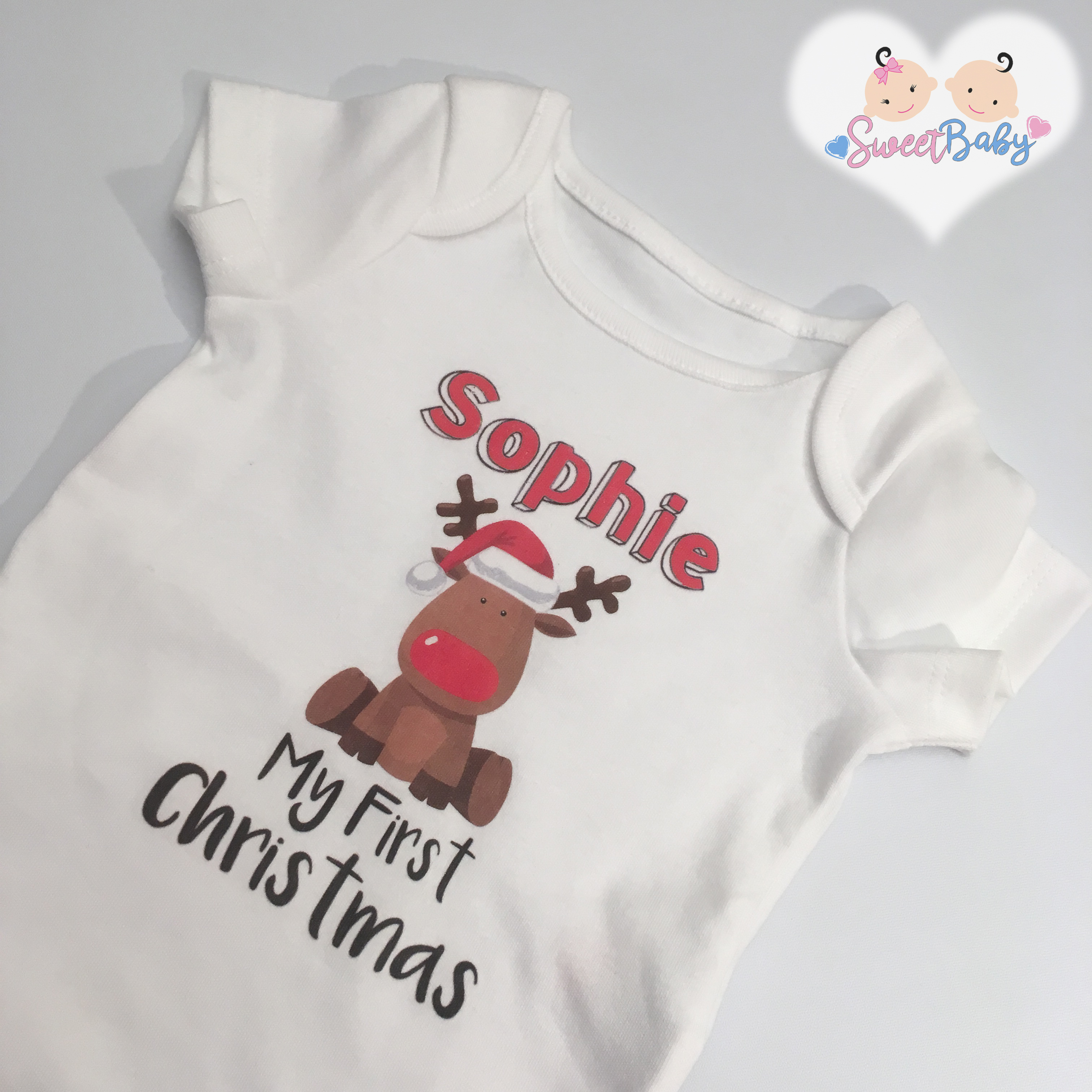 fc061e594 Baby Vests : My First Christmas Personalised Vest