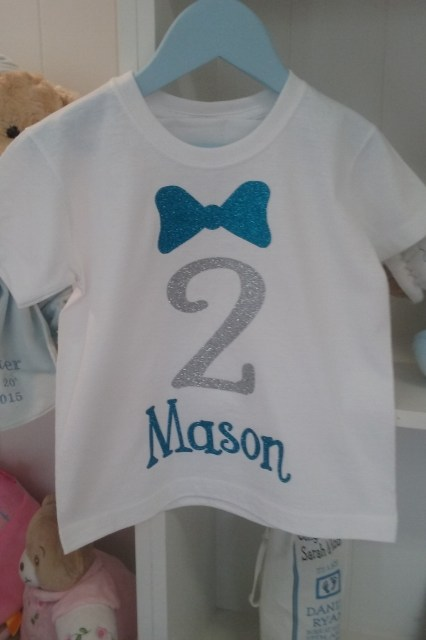 2nd Birthday t-shirt Glitter Print3