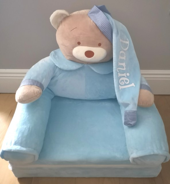 Blue Teddy Chair