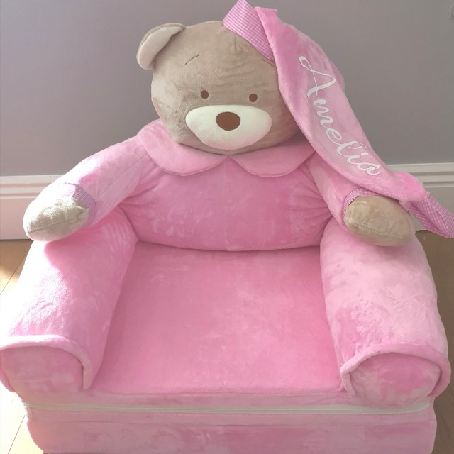 Pink Teddy Chair